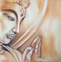 Cuadros Decoración Pintura Oleo Tela Buda