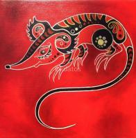 Cuadros Deco Pintura Oleo Tela Horoscopo Chino