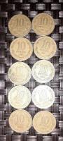 Monedas de 10 pesos con ángel de la libertad