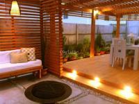 Cobertizos de madera, Terrazas, Tinajas de madera