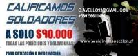 CALIFICACION DE SOLDADORES ENSAYOS PRUEBAS INFORME