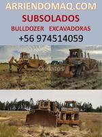 subsolados Bulldozer D8 y excavadoras