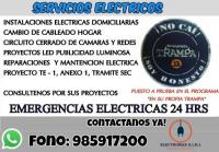 Servicio Eléctrico a Domicilio 24 Horas
