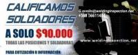 CALIFICACIONES DE SOLDADORES INSPECCIONES ENSAYOS