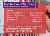 Servicio de instalaciones eléctricas domiciliarias