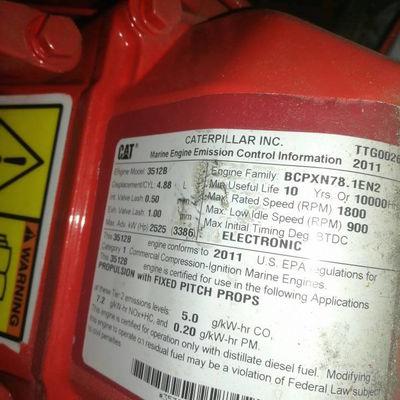 3512b emission control info