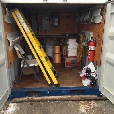 Inside spares box