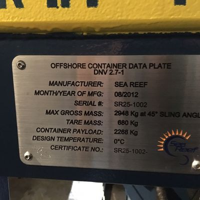Current meter winch data plate