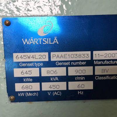 Wartsila 645W4L20 Generating Sets