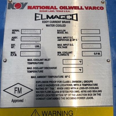 6032W Elmagco Eddy Current Brake
