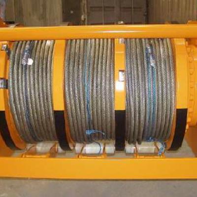 Hydraulic Triple Drum Winch 3x10 Te - 3x55m