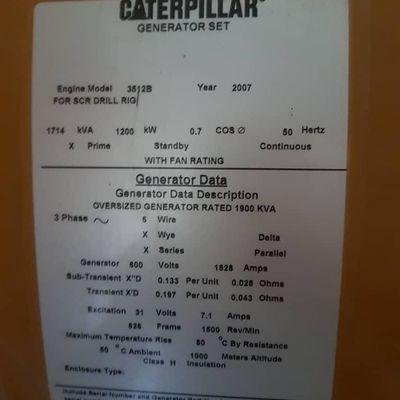 Caterpillar 3512B Generator