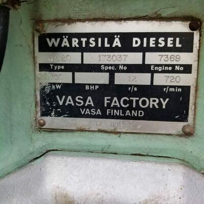 Wartsila 6L20 Marine Diesel Engine
