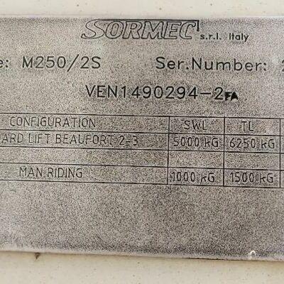 SORMEC M250-2S CRANE