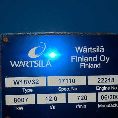 Wartsila W18V32 very low hours generator