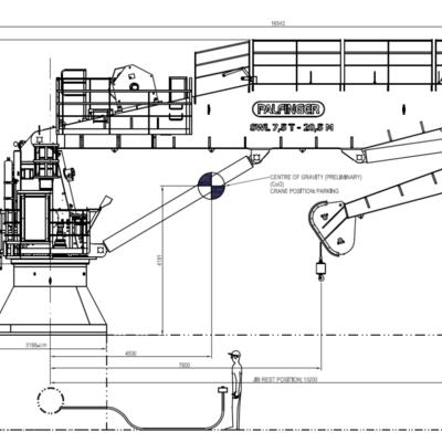 7.5T Knuckle boom crane
