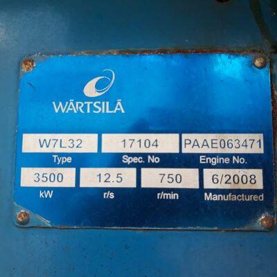 Wartsila W7L32 Marine engine