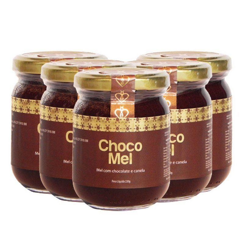 05 UN Chocomel 230g Mel Puro, Cacau 100% e Canela da Índia - HerboMel Natural Sobremesa Saudável