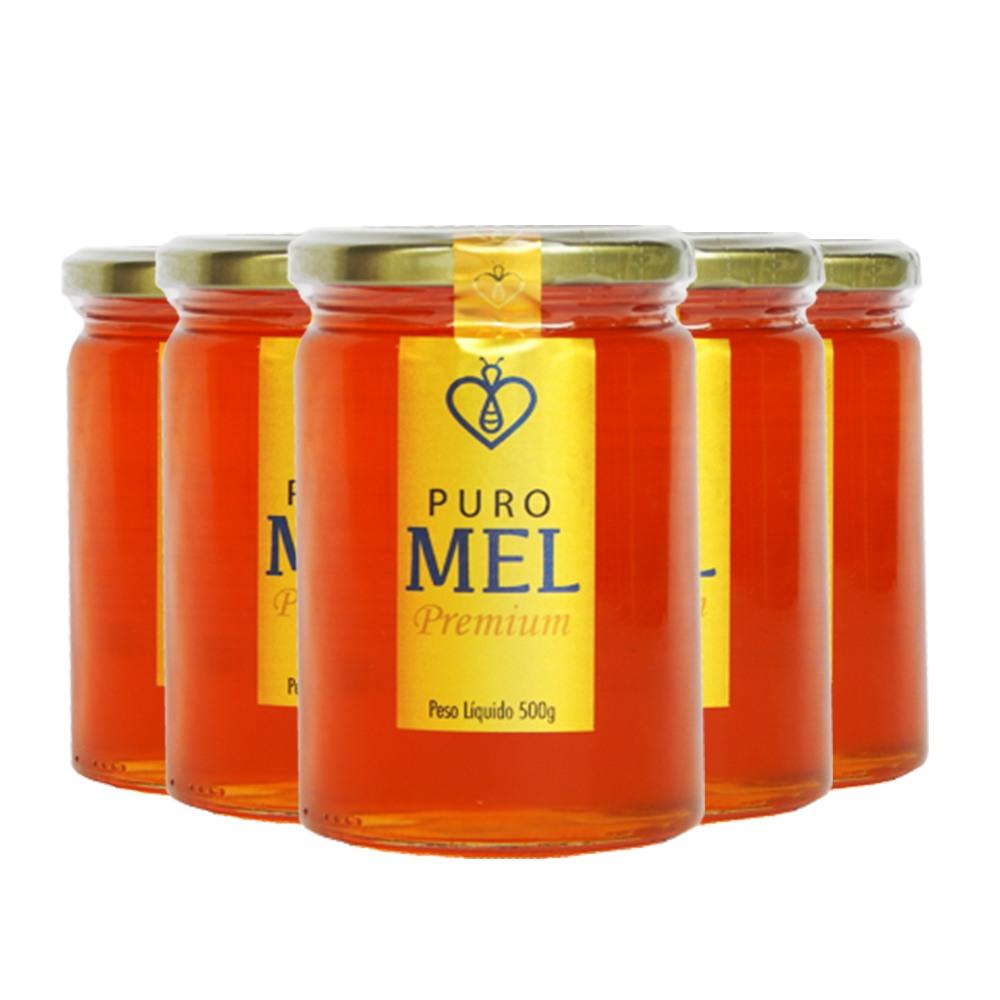 "05 UN Mel Puro Premium 500g Florada Silvestre ""Blend"" Fino de mesa HerboMel Natural"