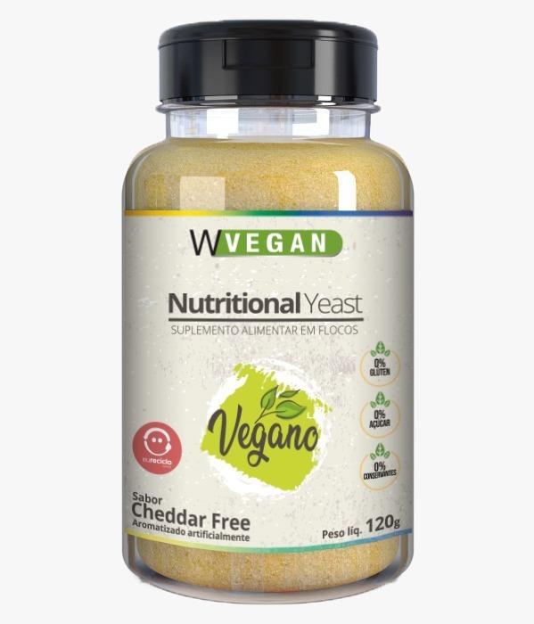 A Nutritional Yeast 120g Flocos Sabores WVegan - Levedura Nutricional - CHEDDAR FREE