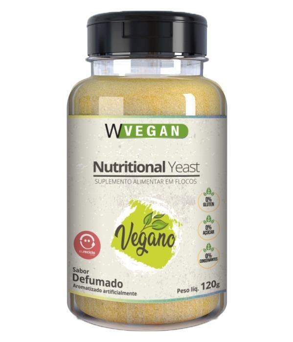 A Nutritional Yeast 120g Flocos Sabores WVegan - Levedura Nutricional - DEFUMADO