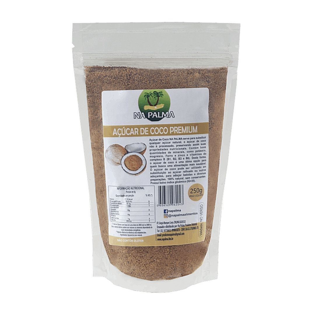 Açúcar de Coco Premium Na Palma 250g