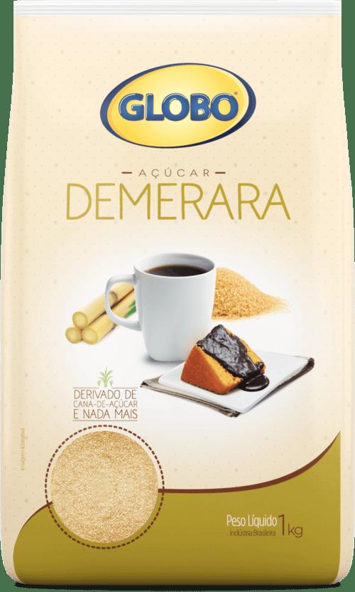 Açúcar demerara Globo 1Kg