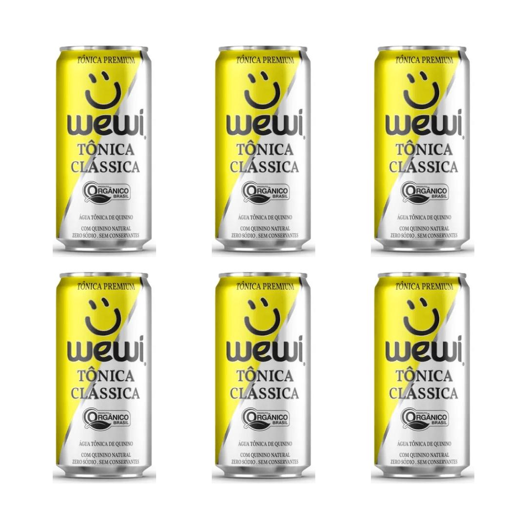 Agua Tonica Orgânica Clássica S/ Conservantes Lata 269ML Wewi Kit com 06