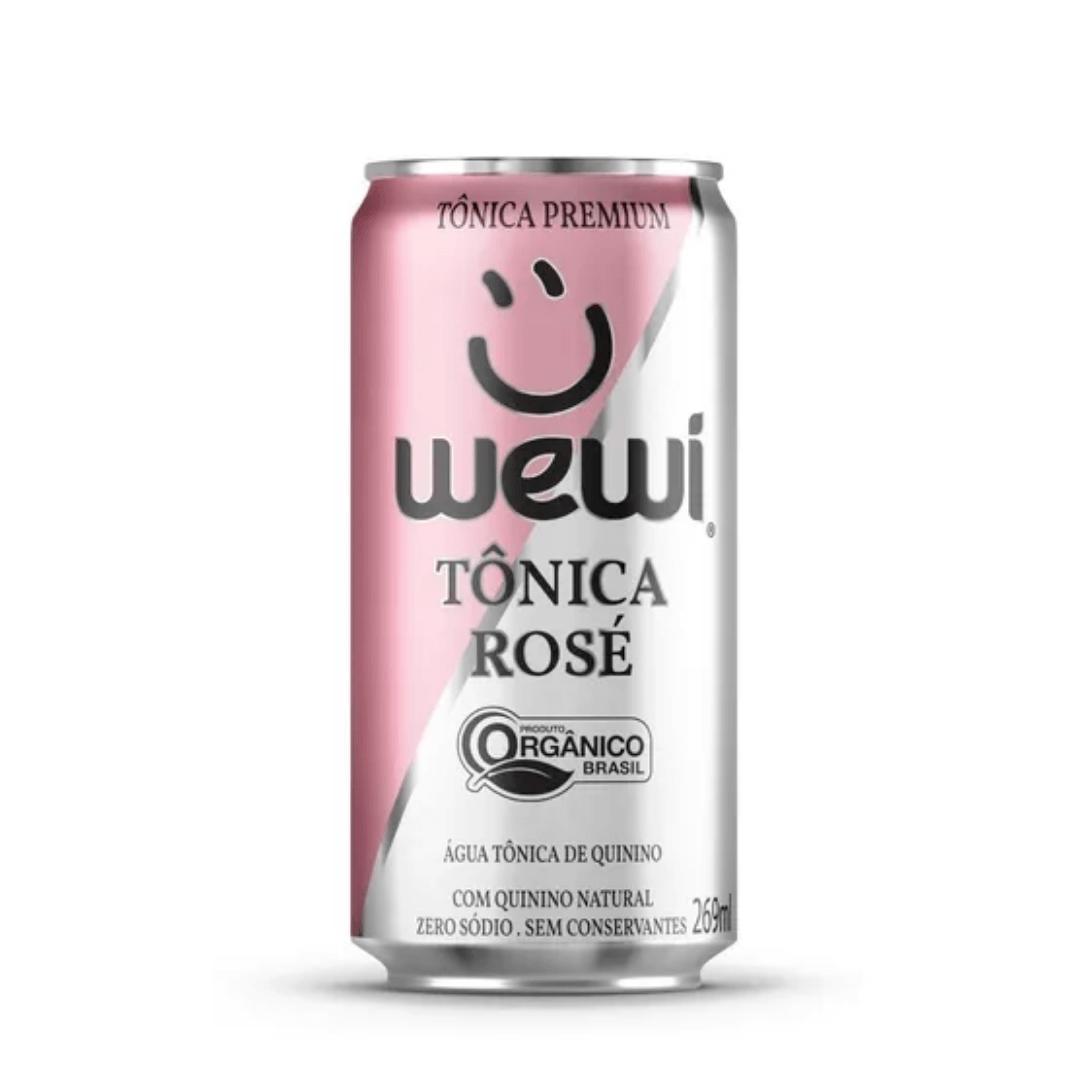 Agua Tonica Orgânica Rose S/ Conservantes Lata 269ml Wewi