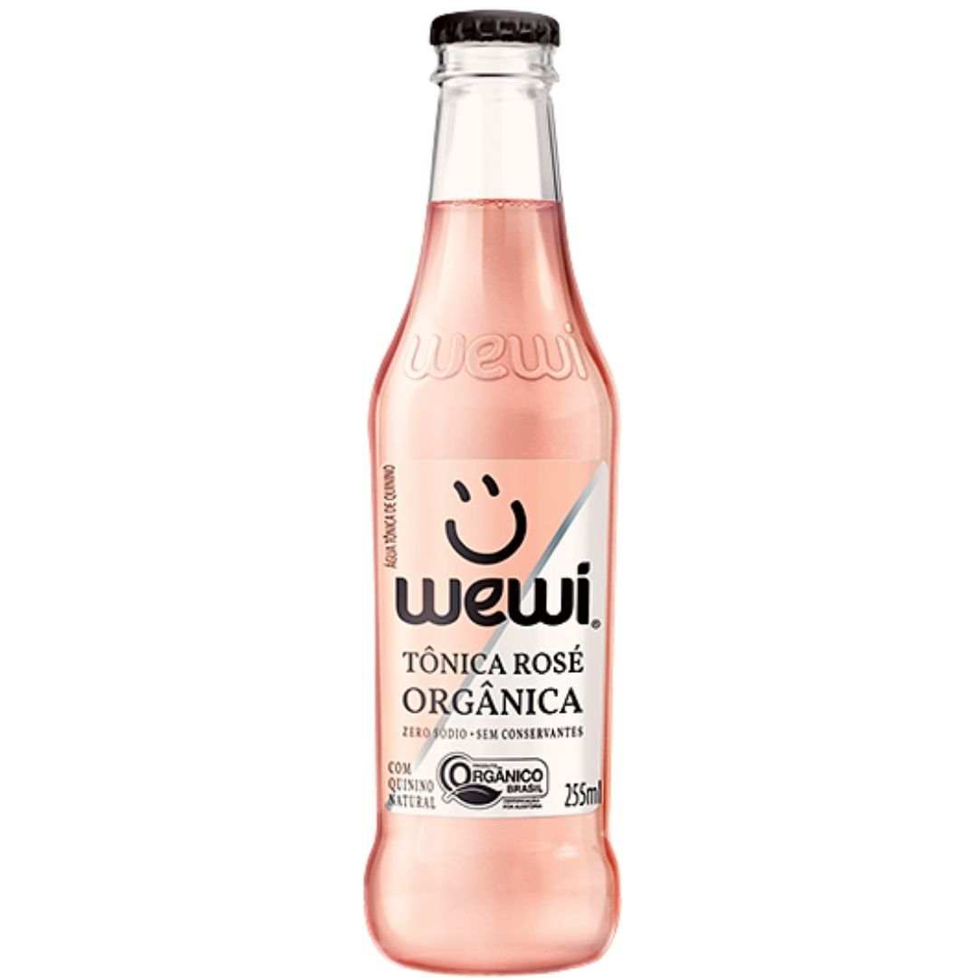 Água Tônica Orgânica Rosé Wewi 100% Natural 255 ml