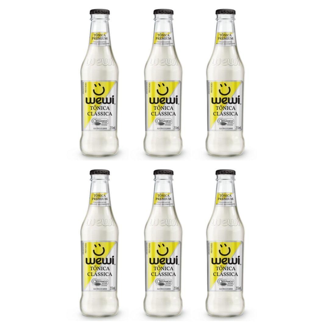 Água Tônica Orgânica Wewi 100% Natural 255 ml KIT com 6