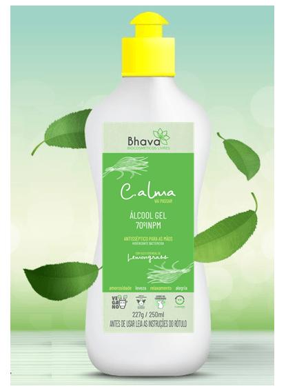 Alcool em gel C.alma com óleo essencial de Lemongrass 250 ml