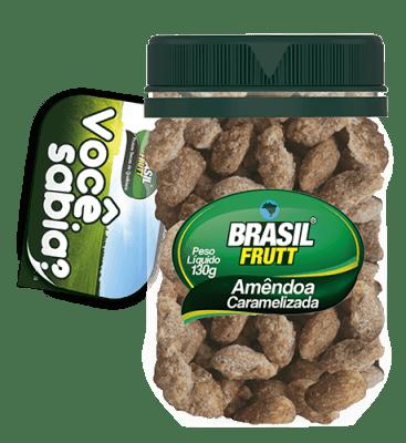 Amêndoa caramelizada Brasil Frutt 130g