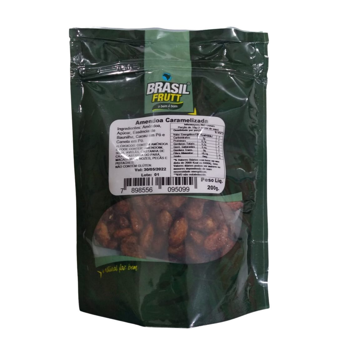Amêndoa caramelizada Brasil Frutt 200g