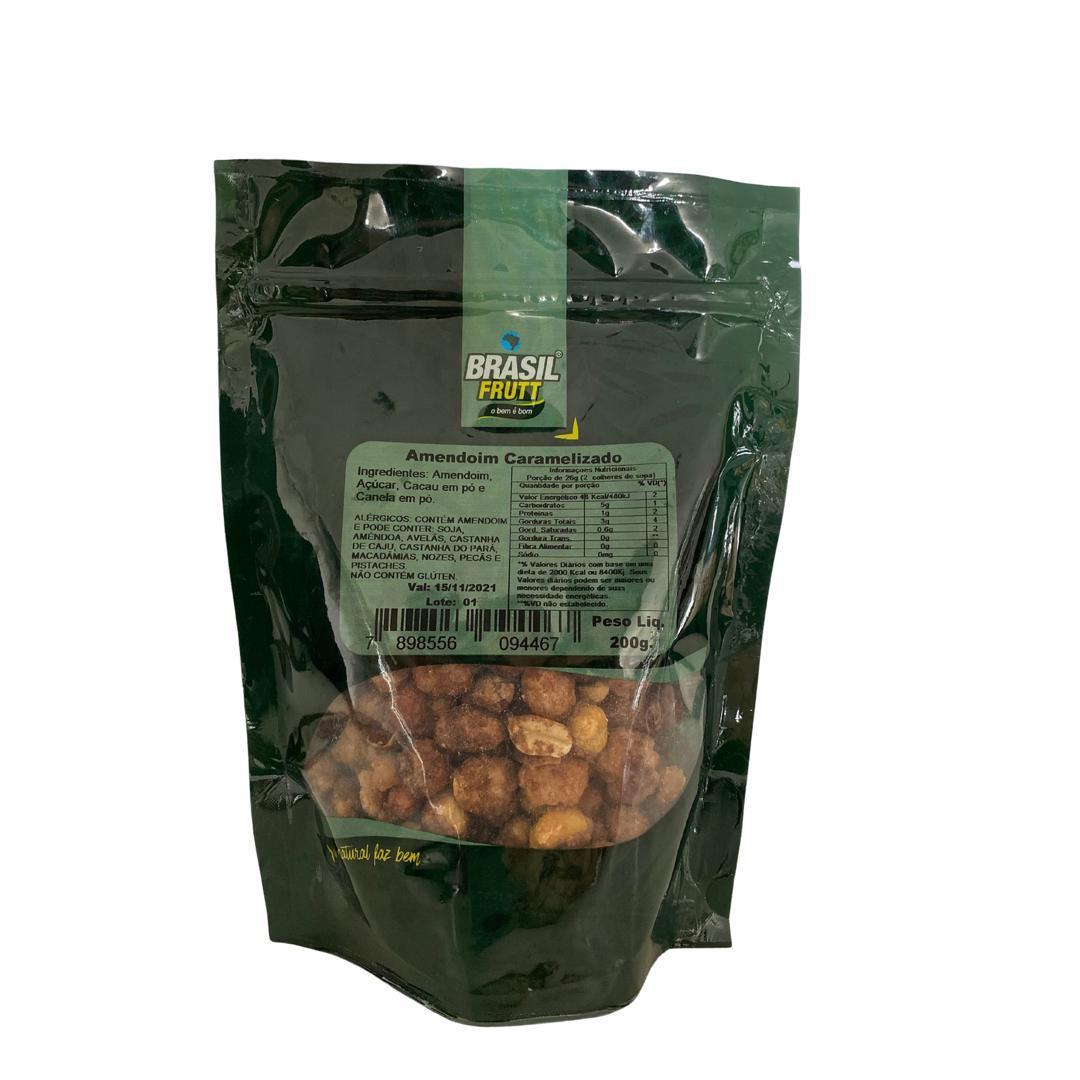 Amendoim caramelizado Brasil Frutt 200g