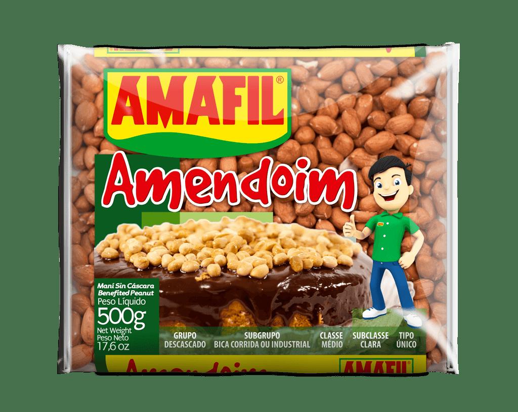 Amendoim claro cru Amafil 500g