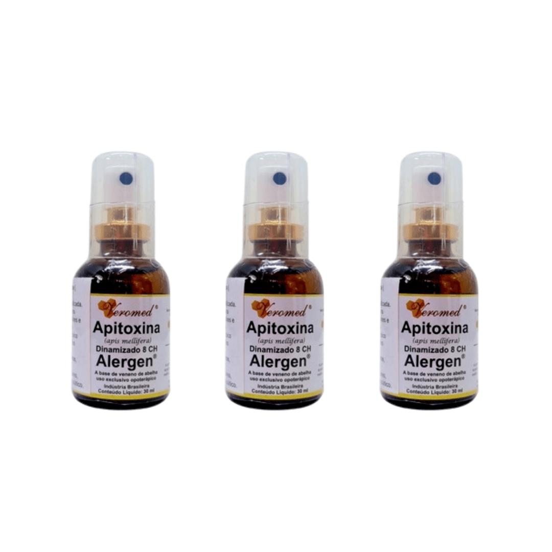 Apitoxina Alergen Spray 30ml Veromed Kit com 03