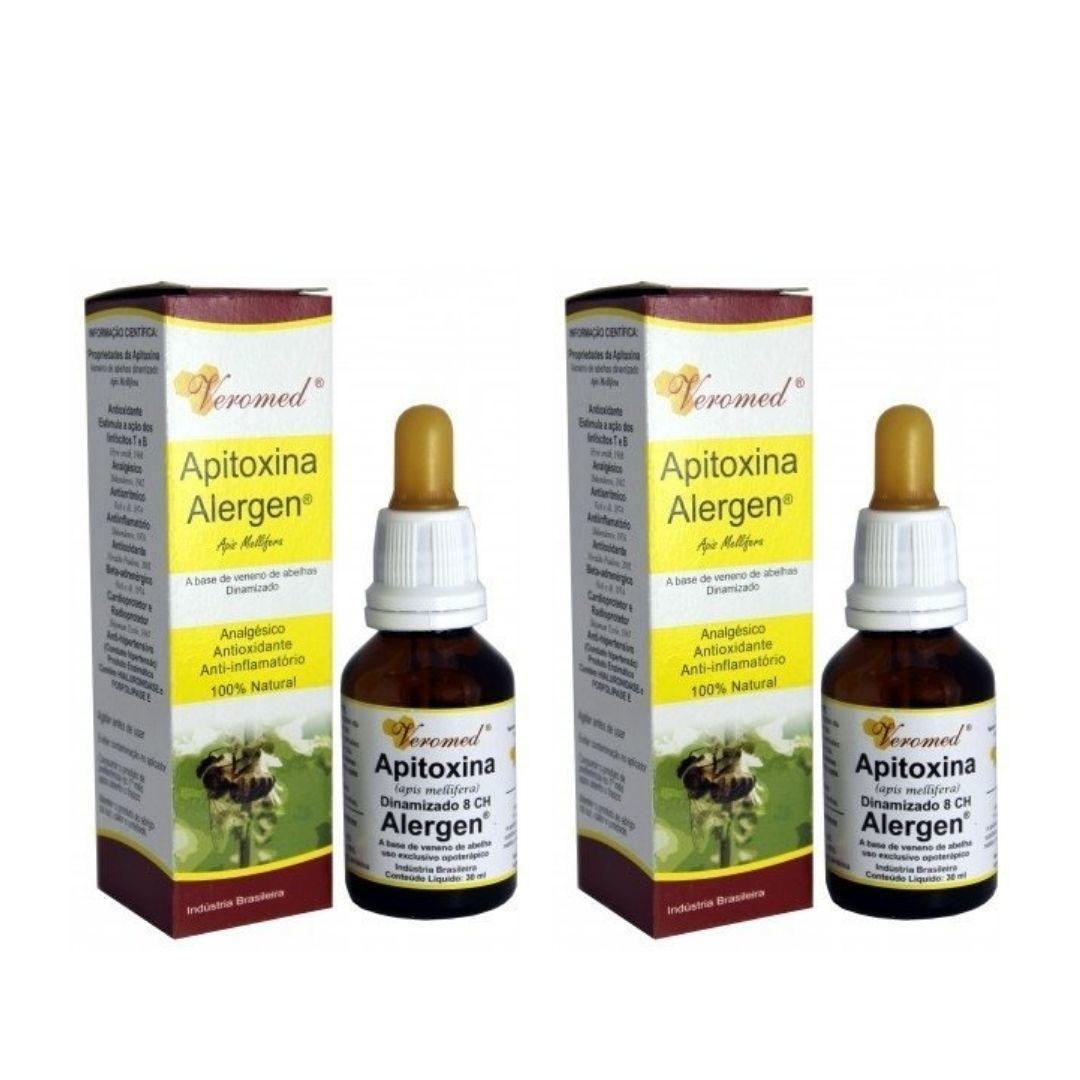 Apitoxina Alergen Sublingual 30ml Veromed Kit com 2