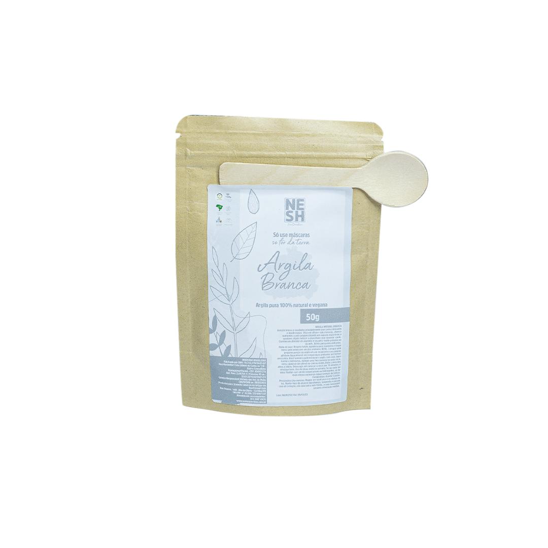 Argila Branca 100% Natural e Pura - Nesh Cosméticos 50g