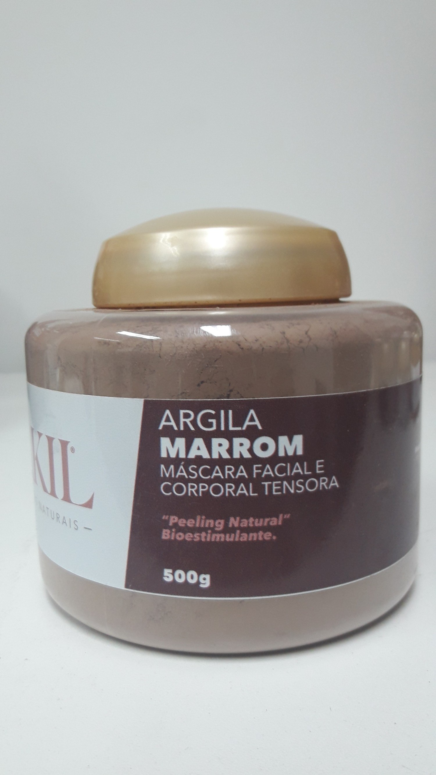 ARGILA MARROM 500 G POTE