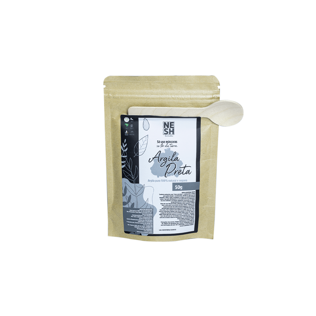 Argila Preta 100% Natural e Pura - Nesh Cosméticos 50g