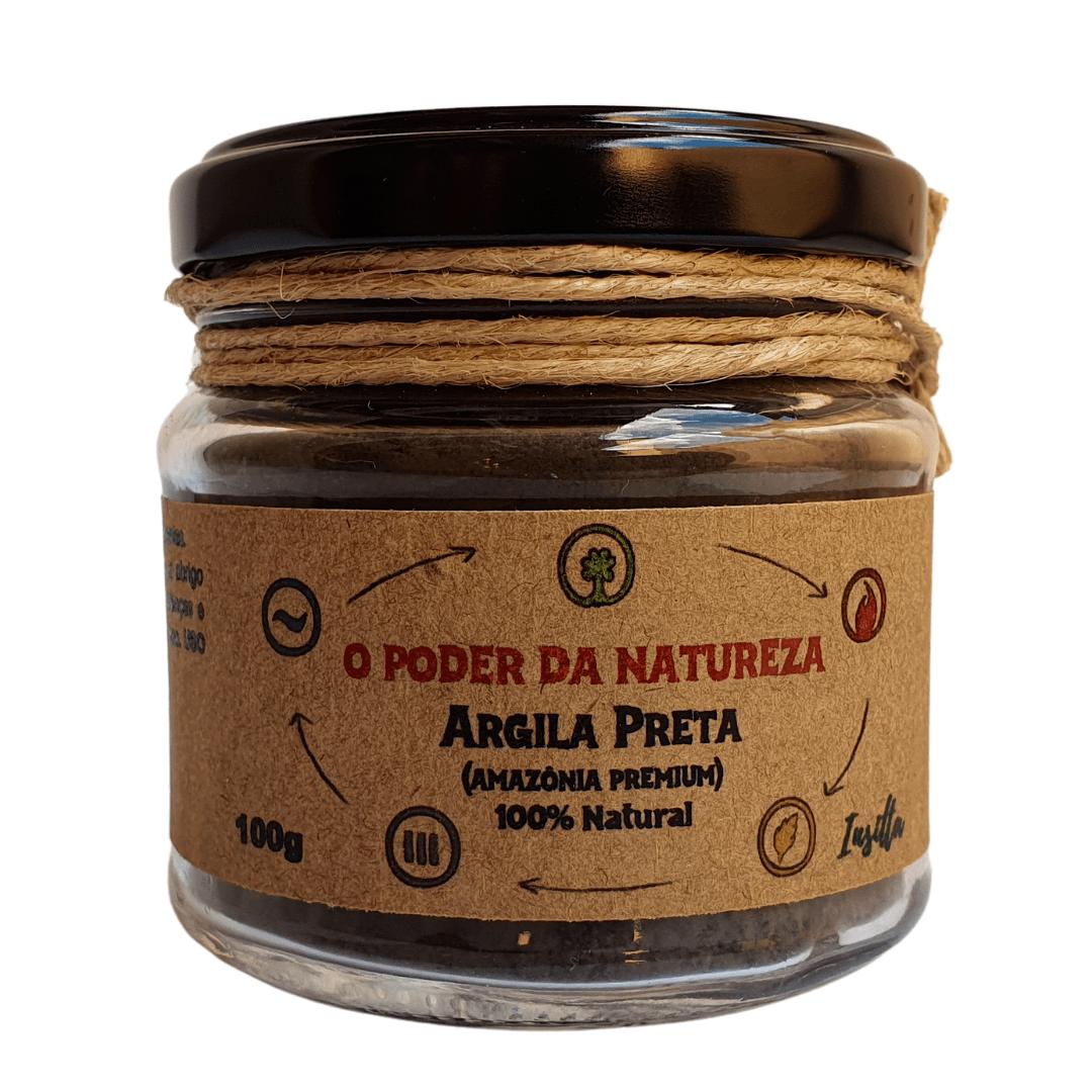 Argila Preta Premium da Amazônia 100% Natural Insitta