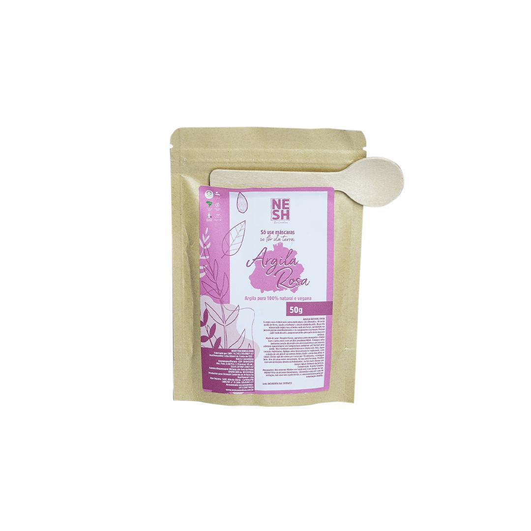 Argila Rosa 100% Natural e Pura - Nesh Cosméticos 50g