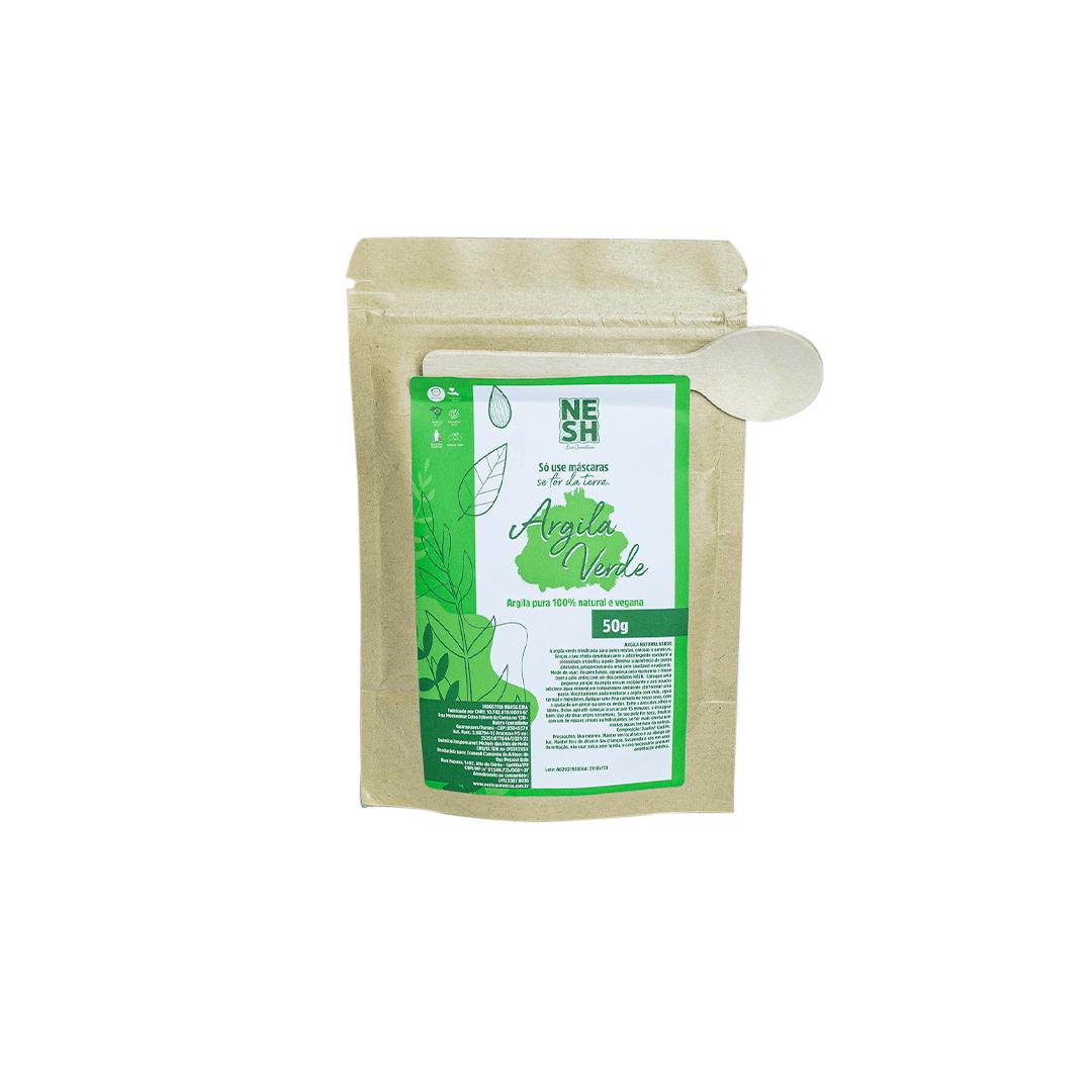 Argila Verde 100% Natural - Nesh Cosméticos 50g