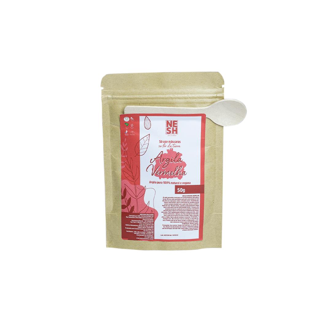 Argila Vermelha 100% Natural Pura - Nesh Cosméticos 50g