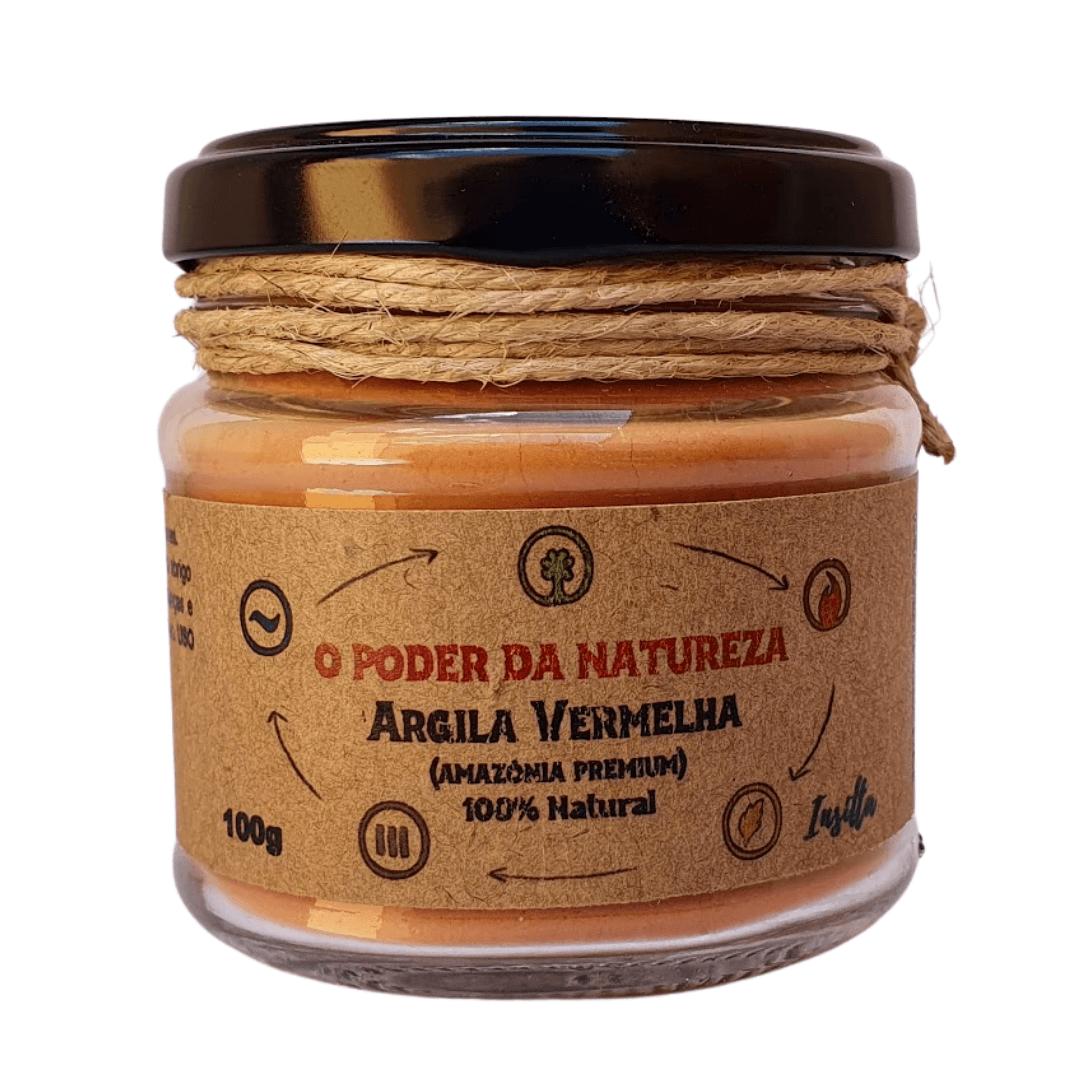 Argila Vermelha Premium da Amazônia 100% Natural Insitta