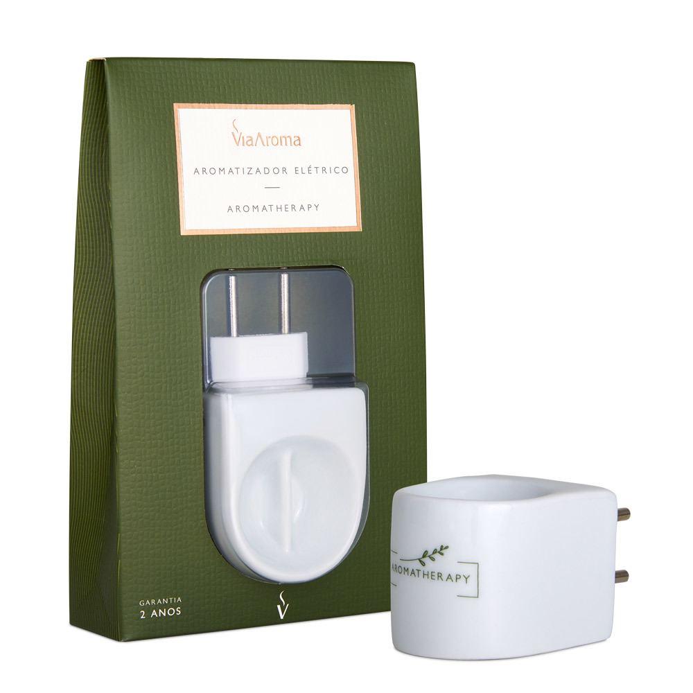 Aromatizador Aromatherapy Cerâmica Branco Bivolt - Via Aroma