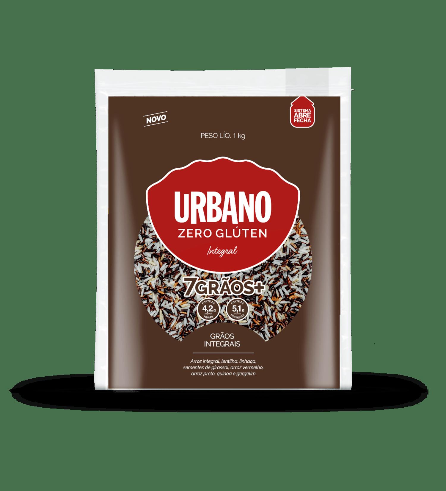 Arroz 7 grãos integrais Urbano 1Kg