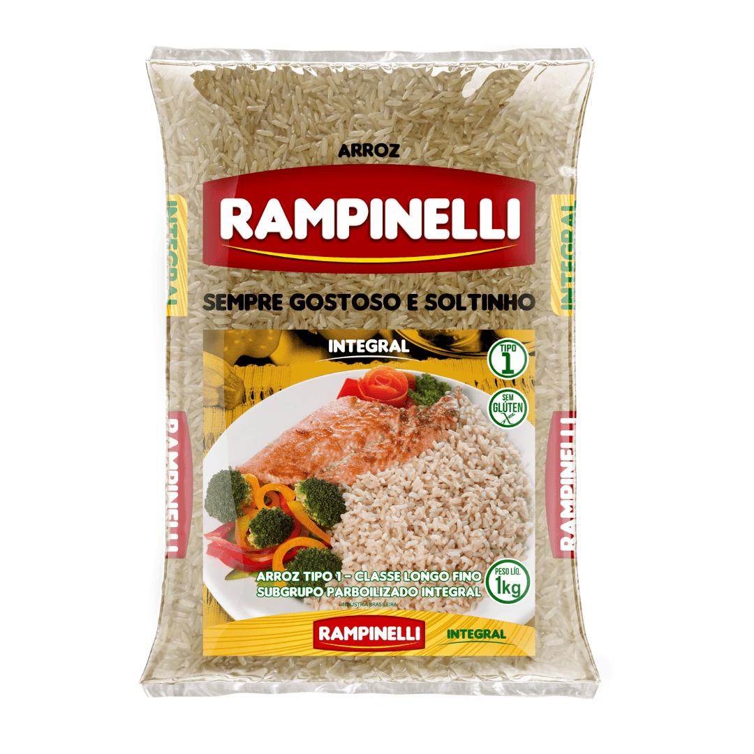 Arroz Parboilizado Integral Rampinelli - 1kg
