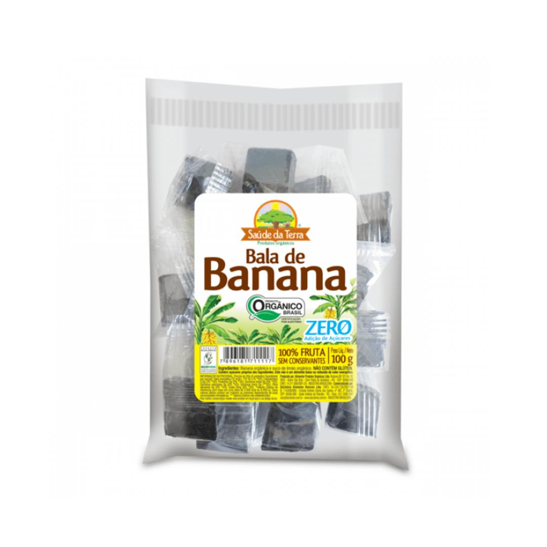 Bala de Banana Orgânica Zero Saúde da Terra 100g
